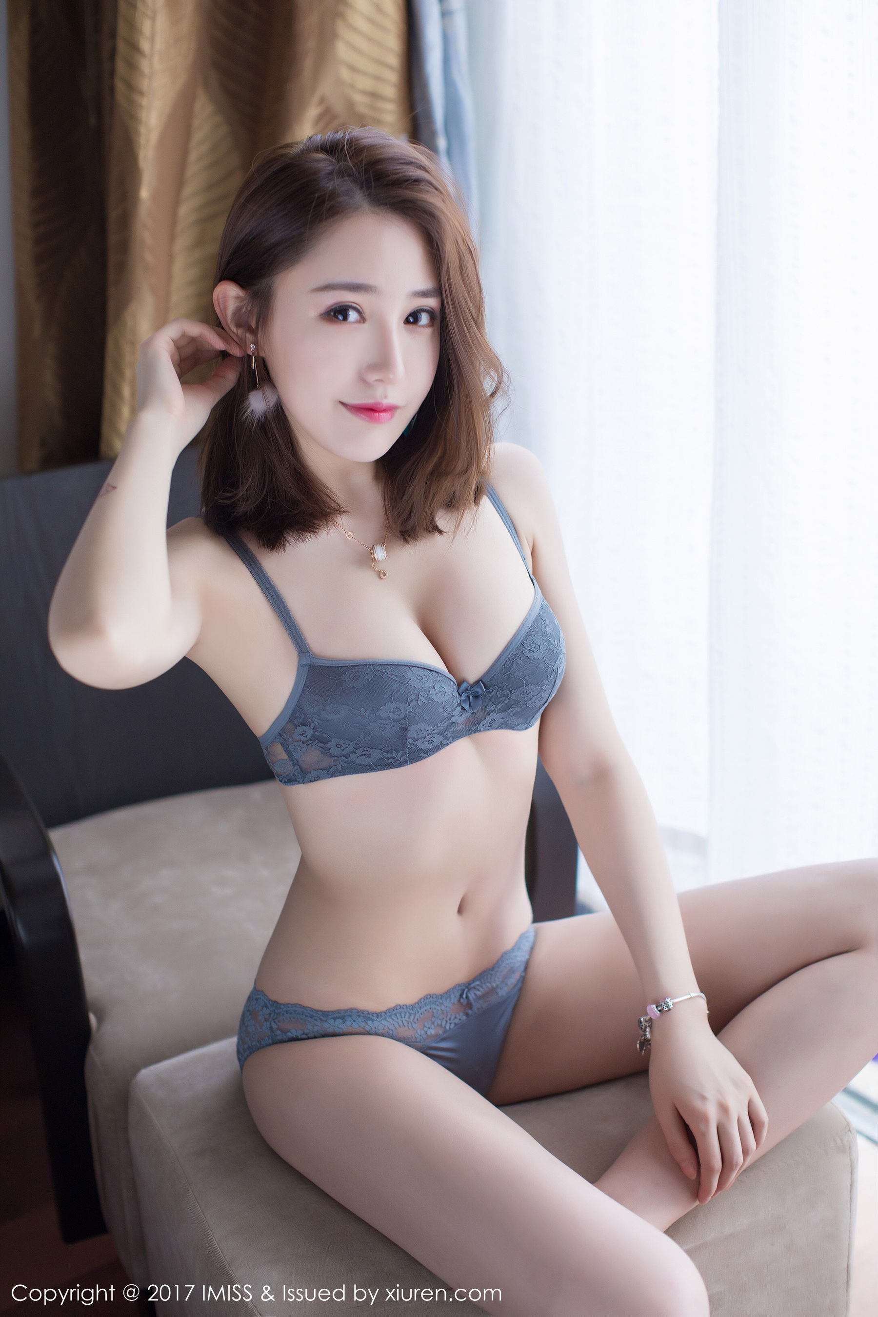 beautiful Chinese girl in lingerie