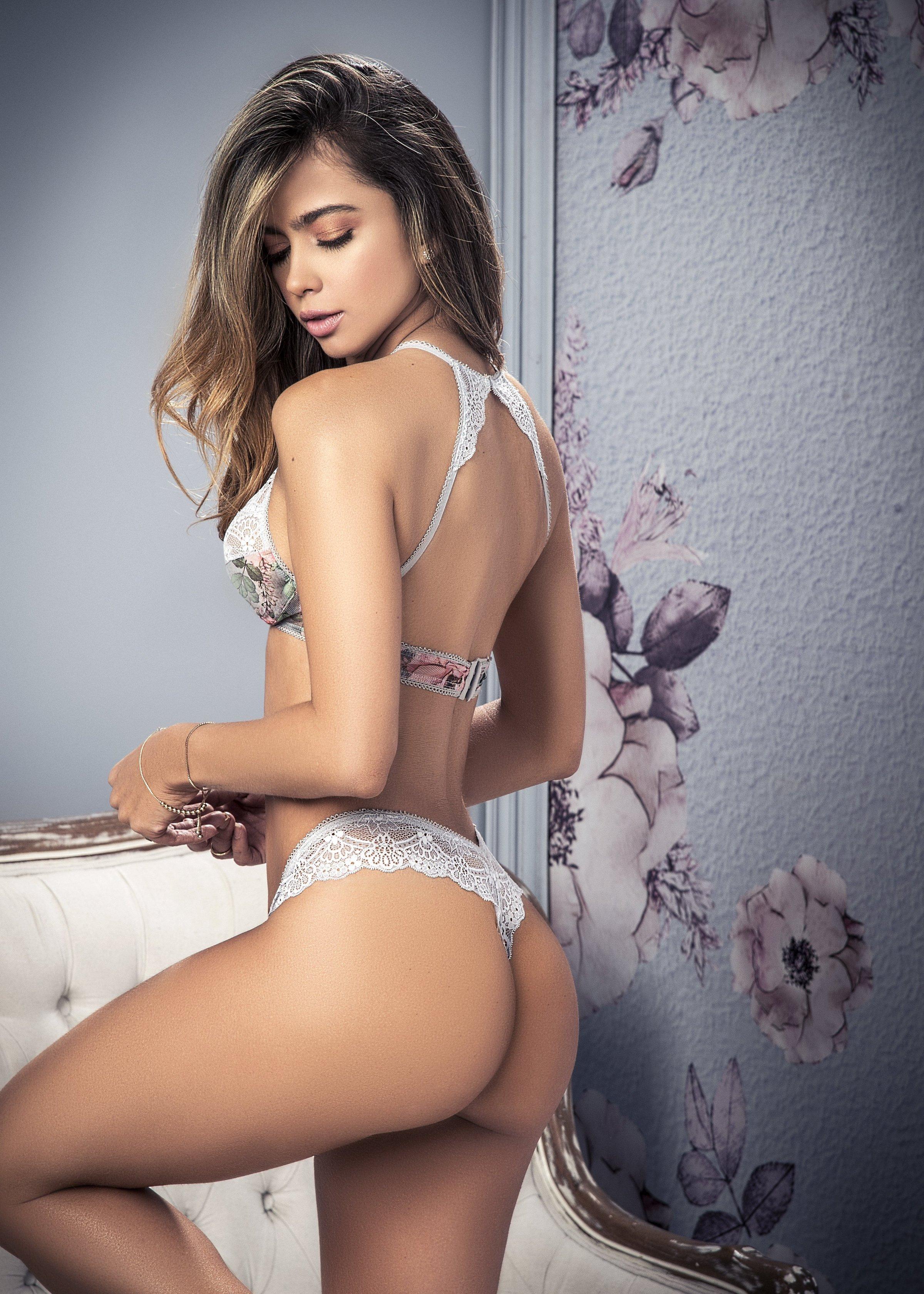 hot beautiful model's back